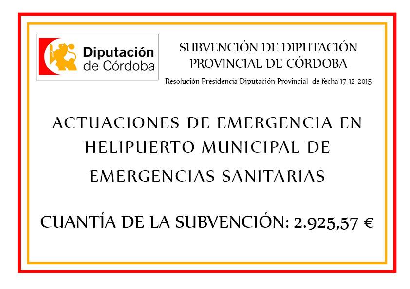 ACTUACIONES DE EMERGENCIA EN  HELIPUERTO MUNICIPAL DE  EMERGENCIAS SANITARIAS