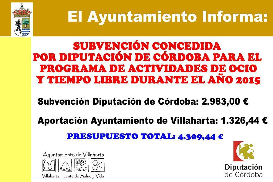 SUBVENCIONES RECIBIDAS. 2015 5
