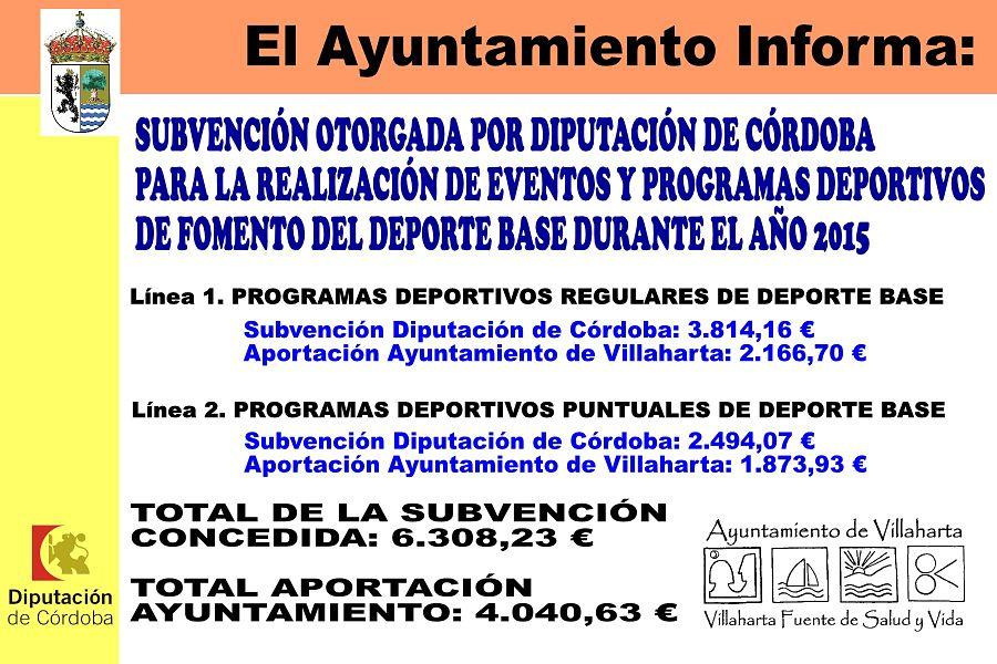 SUBVENCIONES RECIBIDAS. 2015 4