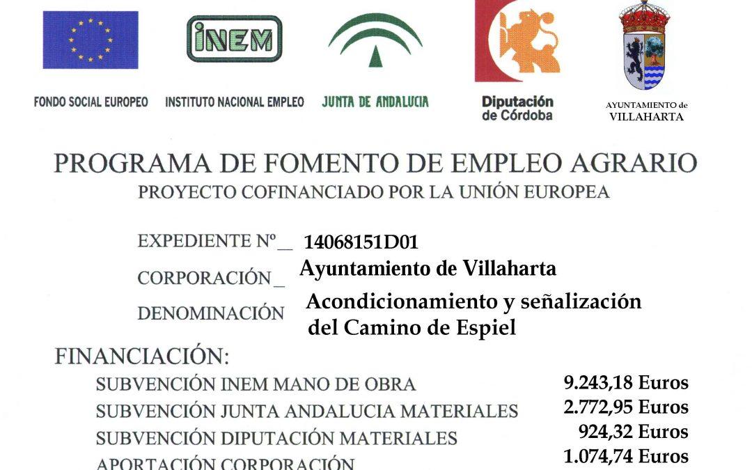 PROGRAMA DE FOMENTO DEL EMPLEO AGRARIO