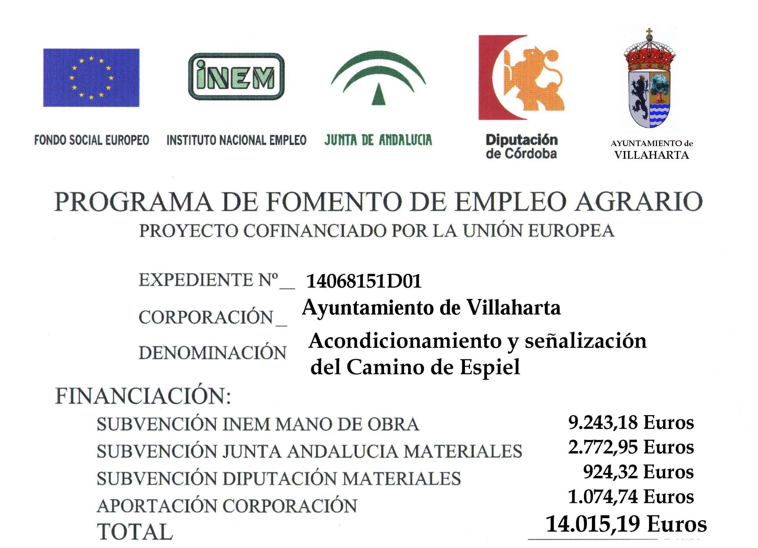 SUBVENCIONES RECIBIDAS. 2015 2