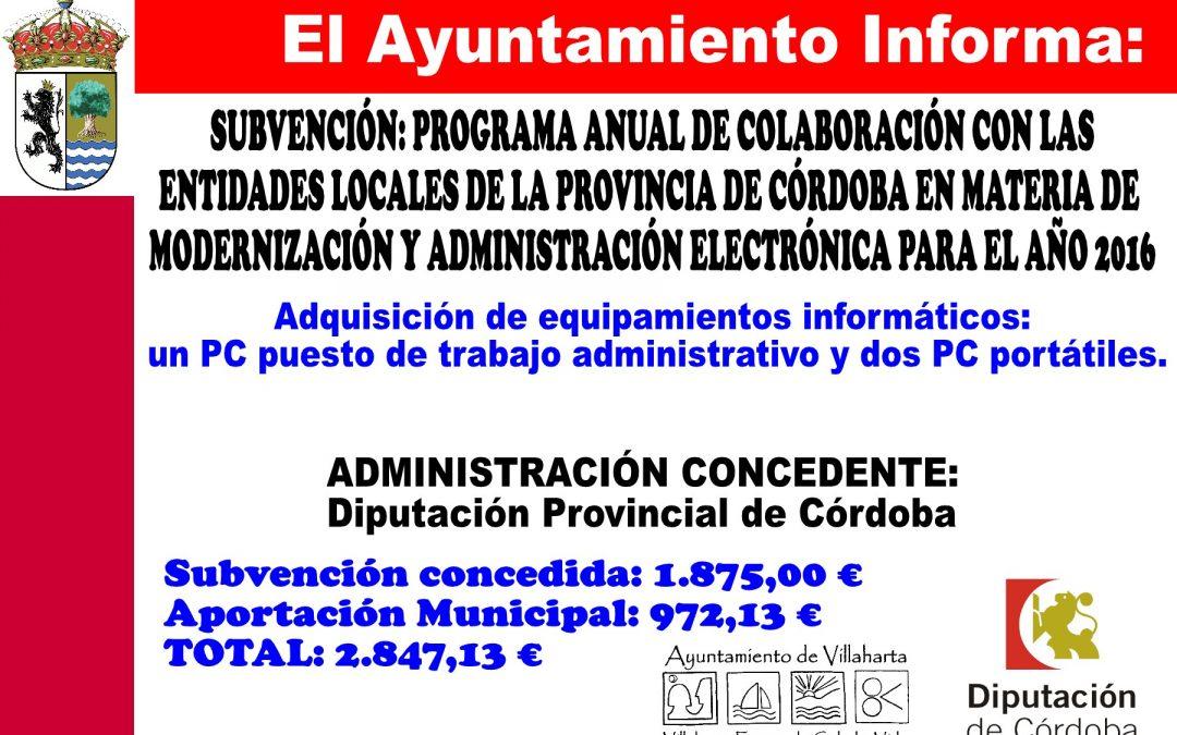 PROGRAMA DE MODERNIZACIÓN Y ADMINSTRACIÓN ELECTRÓNICA
