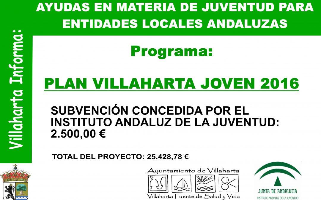 SUBVENCIÓN CONCEDIDA POR EL INSTITUTO ANDALUZ DE LA JUVENTUD