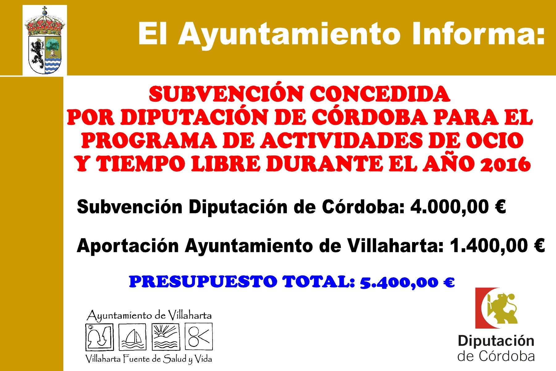SUBVENCIONES RECIBIDAS. 2016 10