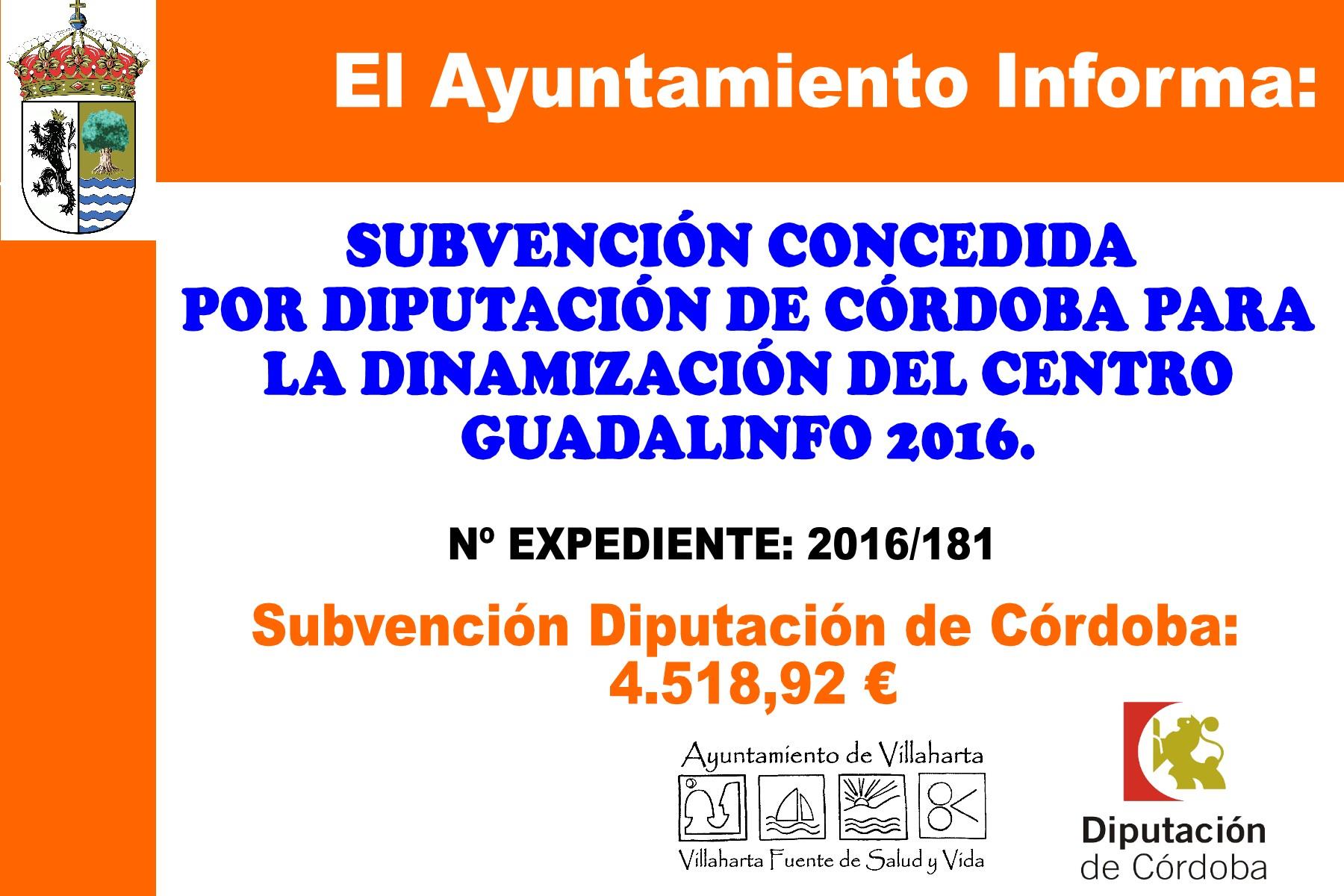 SUBVENCIONES RECIBIDAS. 2016 1