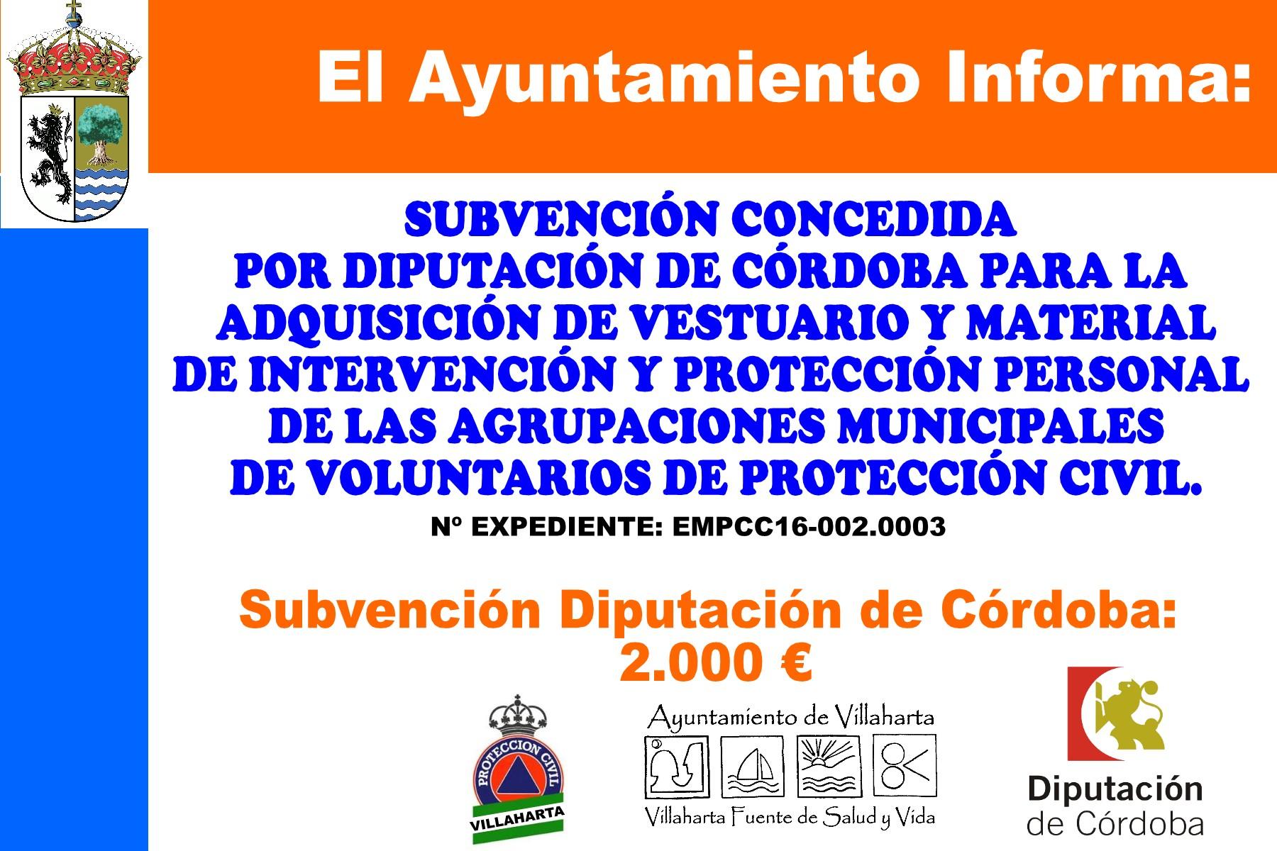 SUBVENCIONES RECIBIDAS. 2016 2