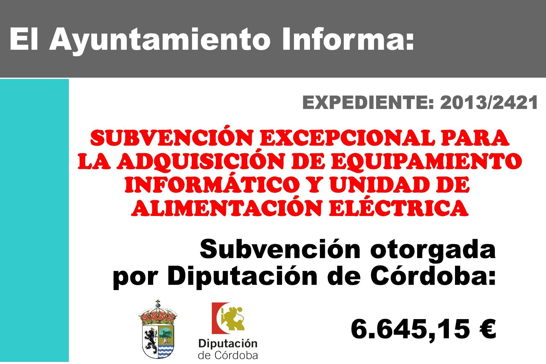 SUBVENCIONES RECIBIDAS 2013 1