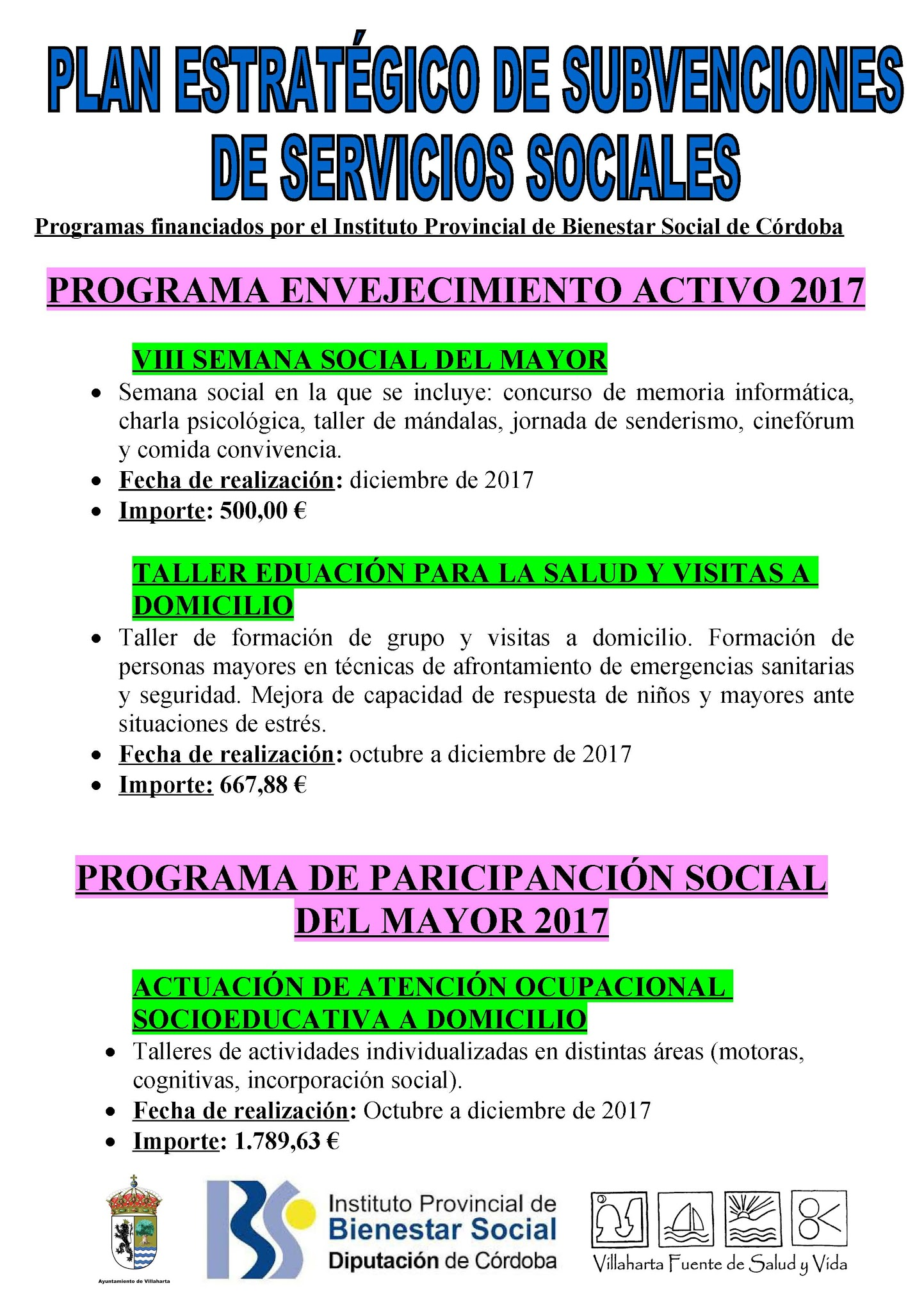 SUBVENCIONES RECIBIDAS. 2017 22