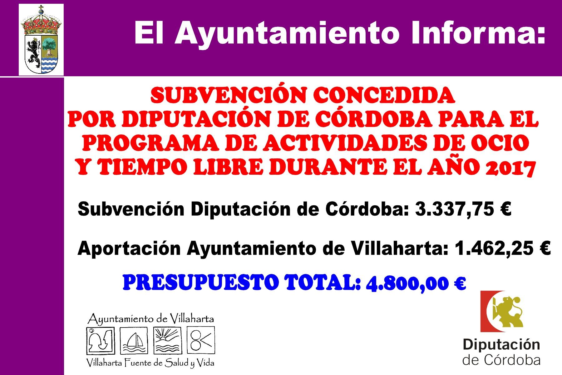 SUBVENCIONES RECIBIDAS. 2017 17