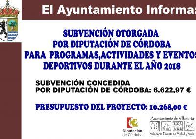 SUBVENCIONES RECIBIDAS. 2018 16