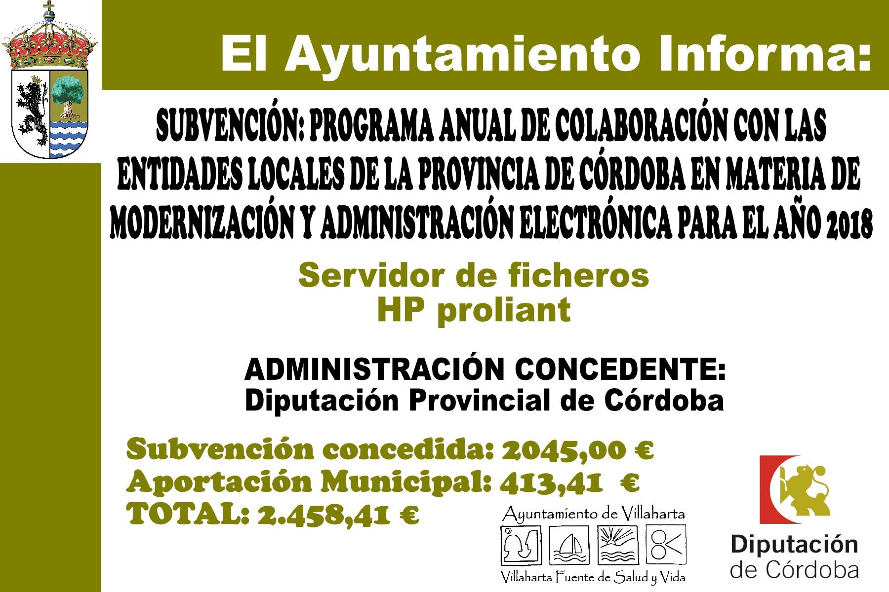SUBVENCIONES RECIBIDAS. 2018 28