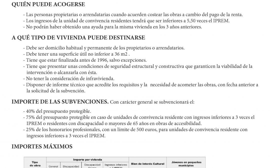 AYUDAS REHABILITACIÓN DE VIVIENDAS