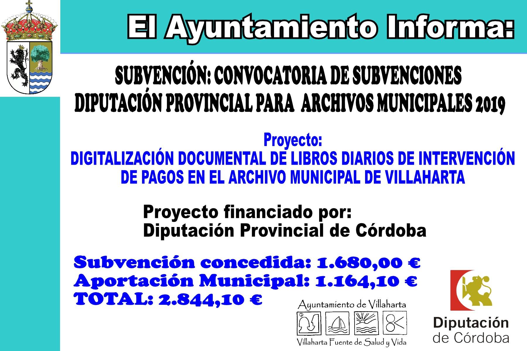 SUBVENCIONES RECIBIDAS 2019 2