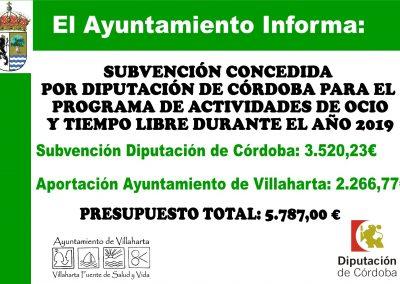 SUBVENCIONES RECIBIDAS 2019 16