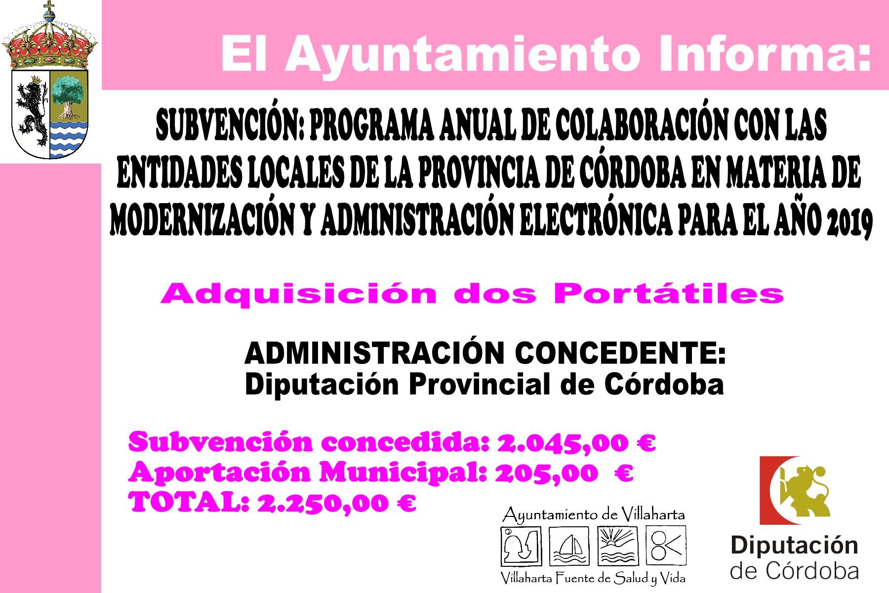 SUBVENCIONES RECIBIDAS 2019 22