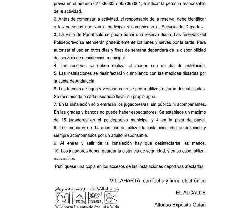 USO DE INSTALACIONES DEPORTIVAS MUNICIPALES