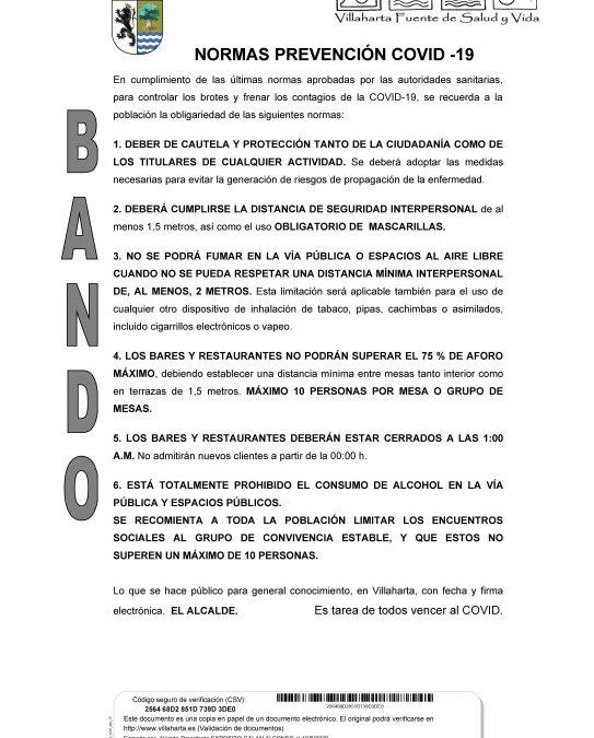 BANDO. MEDIDAS PREVENTIVAS COVID 19 1