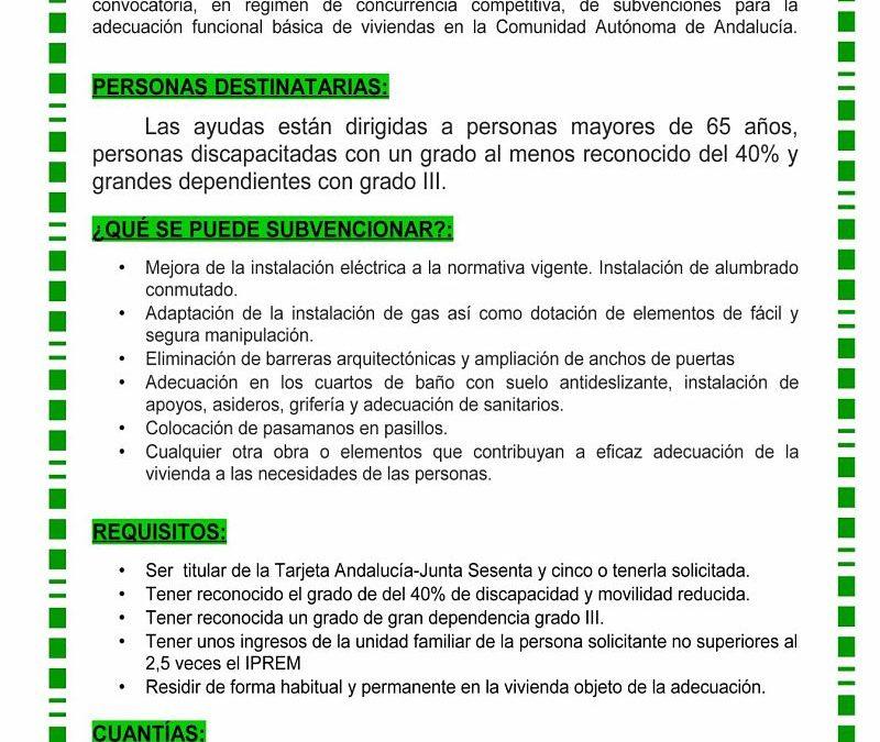 AYUDAS PARA ADECUACIÓN FUNCIONAL DE VIVIENDAS
