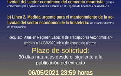 AYUDAS PARA LA HOSTELERÍA Y PYMES ARTESANAS