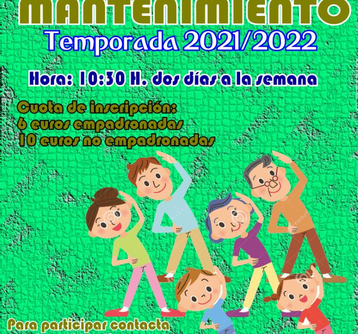 GIMNASIA DE MANTENIMIENTO